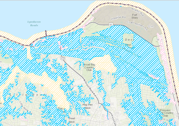Screen Capture of FEMA Flood Map for Virginia Beach